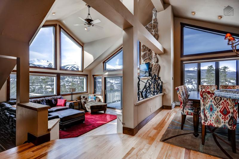 Why yes, those are gorgeous mountain views from pretty much all the living space in this home. - Gorgeous home with mountain views, private hot tub, walkable to downtown Breckenridge - Gold Flake Views - Breckenridge - rentals
