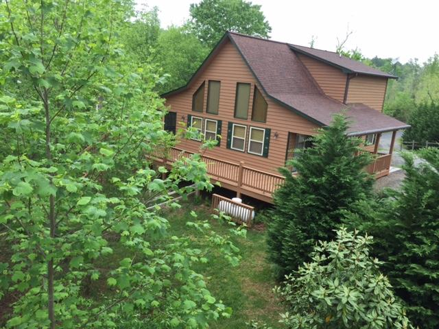 Bear Cub front with mature trees - Bear Cub Chalet - Murphy - rentals