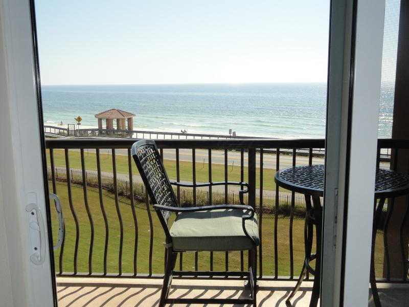 Gulf of Mexico from our patio door. Step out on the balcony for gorgeous view - Mediterranea of Destin Special  160/nt 8/27-9/2 - Miramar Beach - rentals