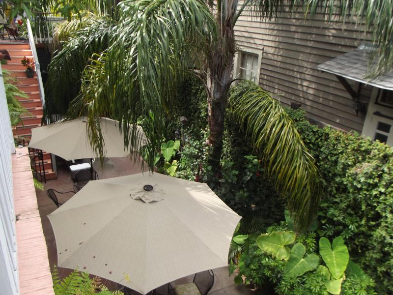 Courtyard view from your private balcony. - Our Little French Quarter Camp: charming & Cozy! - New Orleans - rentals