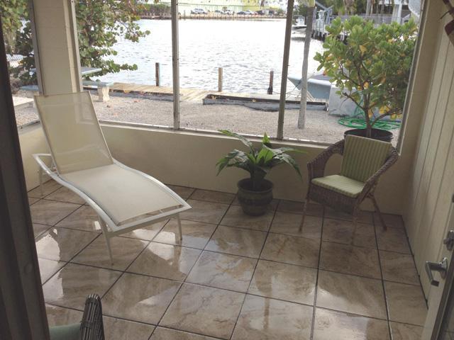 Porch Water View - Osprey Lagoon Half Duplex House, 28 night minimum - Islamorada - rentals