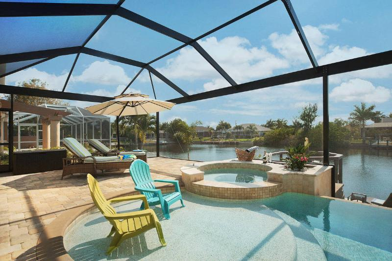 Villa Oasis - Pool Area - Villa Oasis - New! Pool, Jacuzzi & Gulf Access - Cape Coral - rentals