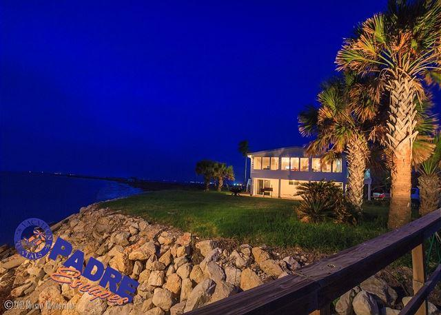 House lit up at night  - Baja Laguna is one-of-a-kind! It offers unmatched privacy and views! - Corpus Christi - rentals