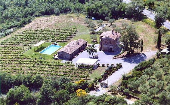 Detached villa with private pool, air conditioning - Image 1 - Radicofani - rentals