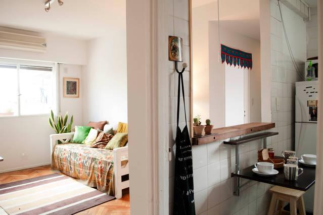 Desde la cocinita, hacia el living - Feel like home in Palermo Soho!Two bedrooms, 4 px - Buenos Aires - rentals