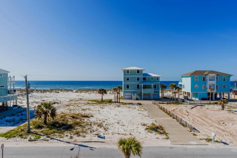 View from upper balcony - Private 4BR home with Stunning Gulf Views - Pensacola Beach - rentals