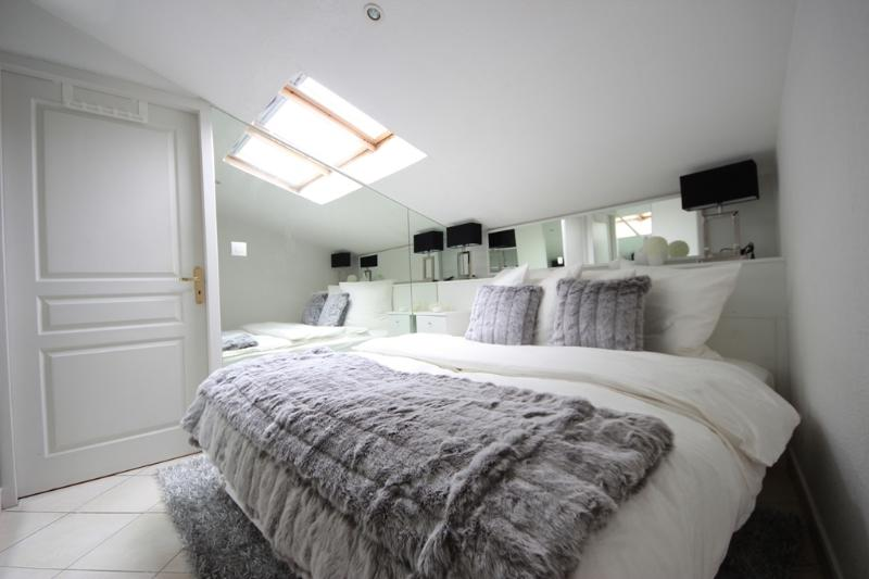 Bedroom with Romantic Ceiling Window to Watch Stars & Moon at Night - 2 Room Roof-Top Croisette Apartment (Cannes) - Cannes - rentals