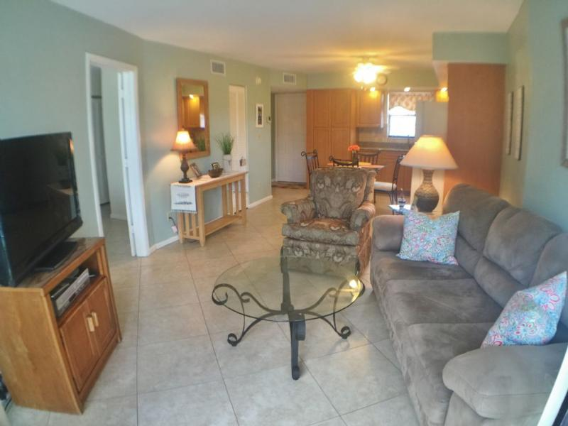 Living Room - Beautifully appointed and Trendy water view unit ! - Marco Island - rentals