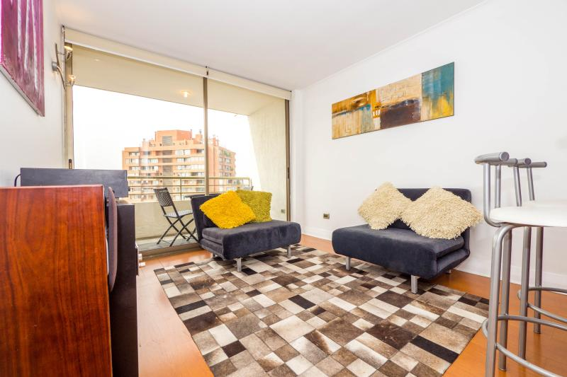 Lovely 1 Bedroom Apartment with Fantastic View in Las Condes - Image 1 - Santiago - rentals