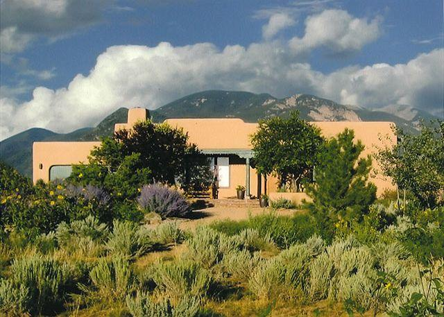 ADOBE ABODE - Sweeping panoramic mountain views, expansive adobe privacy wall system - Arroyo Seco - rentals