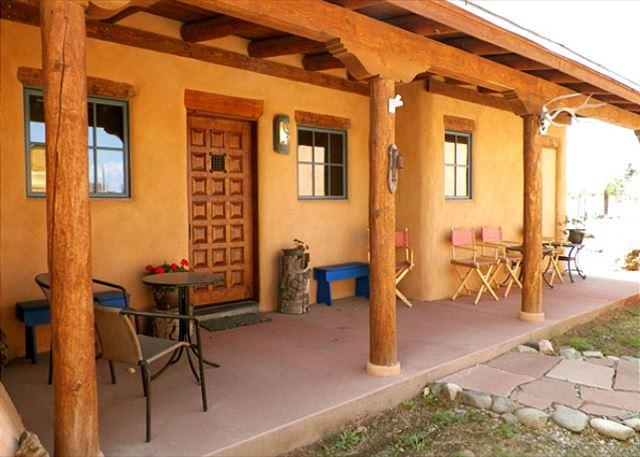 "The traditional front entry ""Portall"" (covered front porch or walkway)  - Alfreds House Historic Adobe Hot Tub - Taos - rentals"