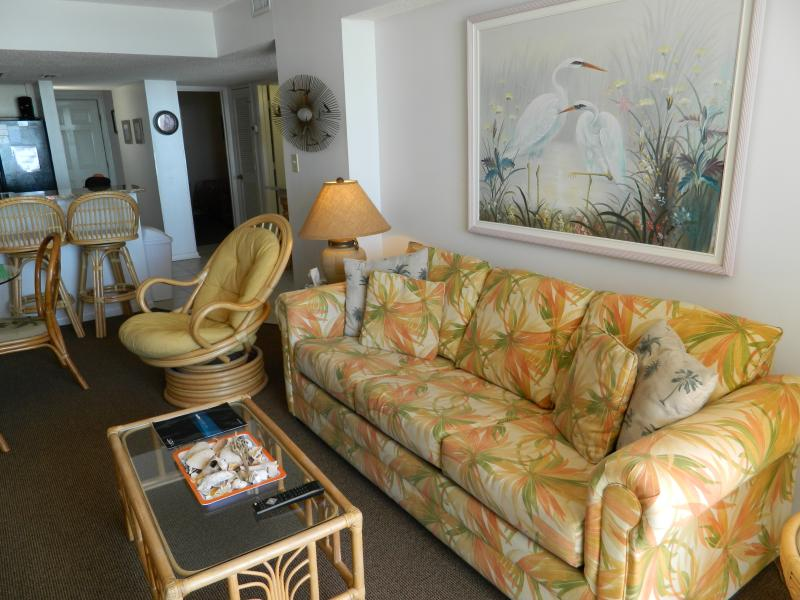 New living room furniture. - Ocean Front Condo w/ New Kitchen! Great Rates! - North Myrtle Beach - rentals