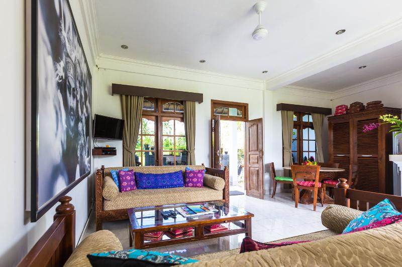 Living Room - Ubud Rice Field Green Loft Villa - Ubud - rentals