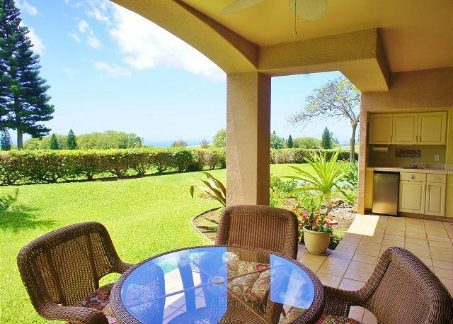 Lanai with Ocean Views - On Golf Course with Ocean Views From Covered Lanai! Waikoloa Fairways A110 - Waikoloa - rentals