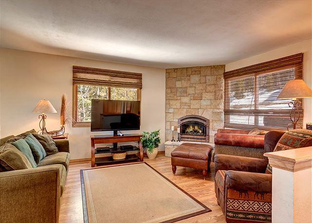 Peak 7 Hideaway Living Area Breckenridge Lodging Vacation Rental - Peak 7 Hideaway Pet-Friendly Home Breckenridge Colorado Vacation - Breckenridge - rentals