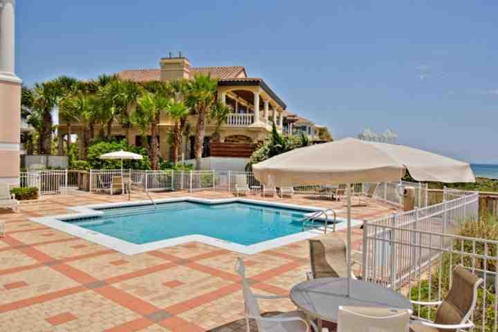 Blue Lupine amenities include wonderful outdoor pool, with plenty of seating for everyone to enjoy - Blue Lupine #212 - Beautiful Gulf Front Condo with Amazing Views! Resort Pool - Point Washington - rentals