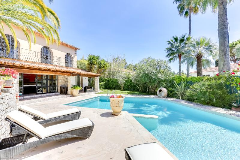 Excellent Palm Spring Villa in Cannes with Fireplace and Terrace - Image 1 - Cannes - rentals