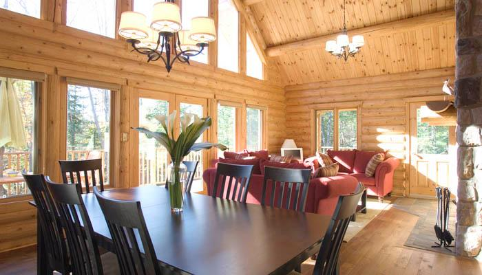This beautiful home features towering ceilings and a huge open-floor plan. - Mont Tremblant Blueberry Lake Papineau 5 Bedroom Chalet - Labelle - rentals
