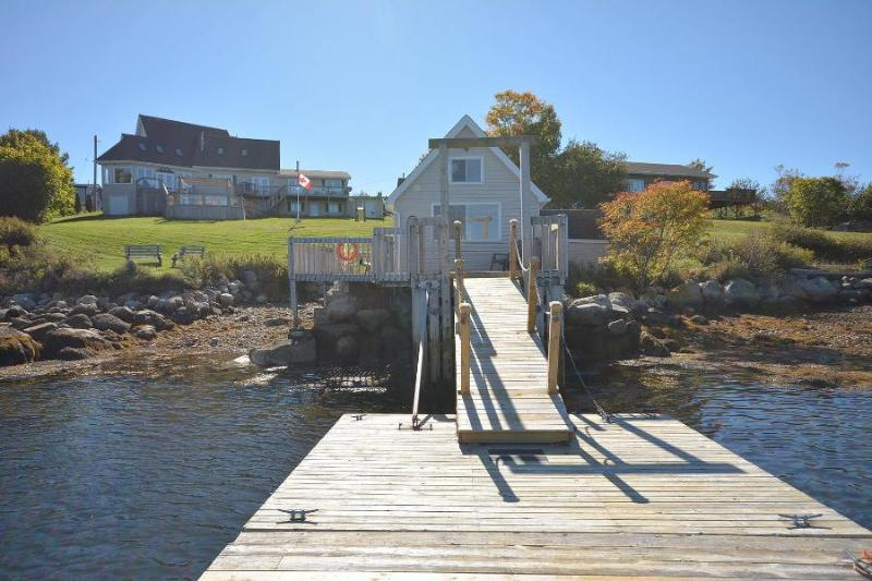 View from Dock - #30 Captains Watch Oceanfront Retreat, McGraths Cove  NS - Chester - rentals