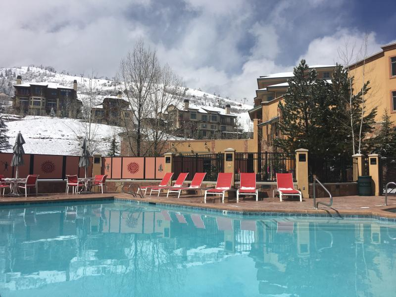 Pool is nicely heated year round - Best Location, Larger Upgraded 1 Bedroom, Pool - Park City - rentals