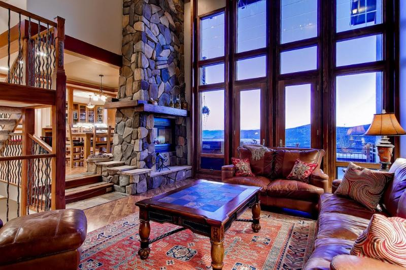 Living room with panoramic views - Skyline Retreat - Views, hot tub, pool table - Breckenridge - rentals