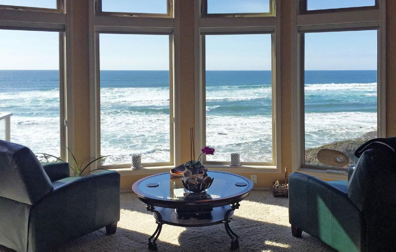 Towering windows that bring the ocean and beach to you. - The Coastal Jewel at Seal Rock - Seal Rock - rentals