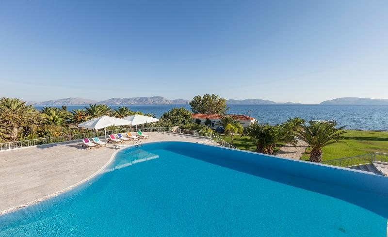 Porto Heli  - Gv - The  Diva Grand Villa on the beach with pool and 6-7 bedrooms sleeps 14+ - Image 1 - Thermisia - rentals
