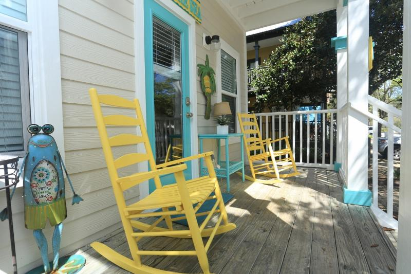 Our cool and vibrant front porch begs you to stay and rock all day and night! - Perfect for Family Getaway! Walk to Beach & Shops! - Santa Rosa Beach - rentals