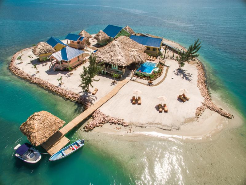Little Harvest Caye Aerial View - Exclusive Private Island with 360 Degree Oceanview - Placencia - rentals