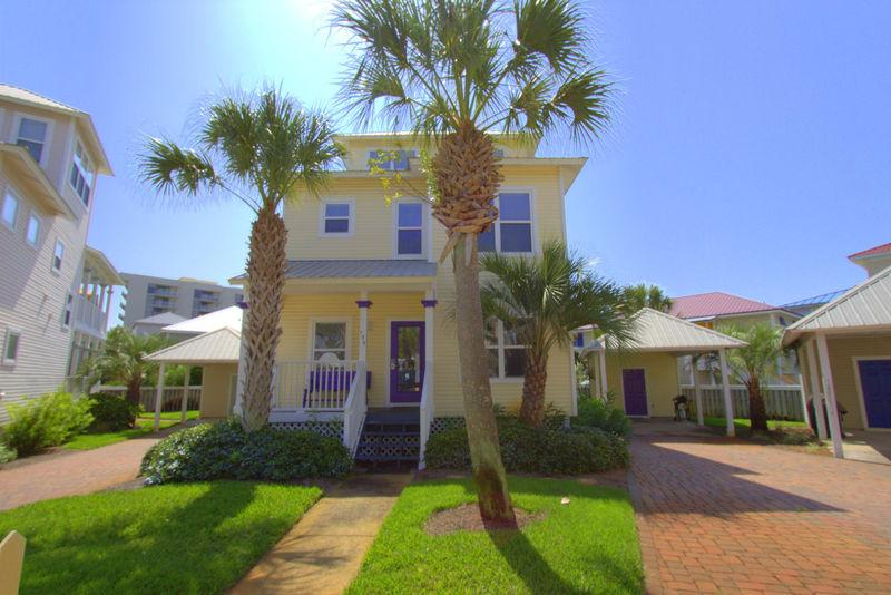 "Front of Home - Coast Inn"" is a charming 4 BR home within 75 yards - Miramar Beach - rentals"
