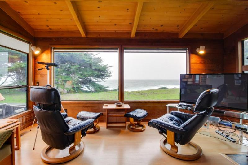 Oceanfront home w/ a private hot tub, views & shared pool - steps from trails! - Image 1 - Sea Ranch - rentals