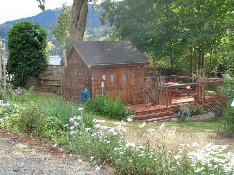 cabin view from the driveway - Fulford Dunderry Cabin - Salt Spring Island - rentals