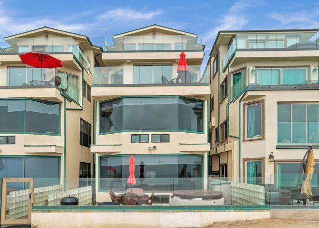 unit exterior view  - 7br/7ba Luxury Oceanfront Retreat, Oceanview Decks, Spa, BBQ, A/C Equipped - Oceanside - rentals