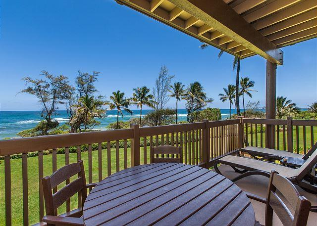 Oceanfront Lanai - Kaha Lani Resort #224, Ocean Front, 2nd Floor End Unit, Remodeled Kitchen! - Lihue - rentals