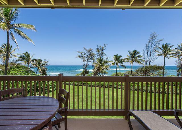 Large Oceanfront Lanai - Kaha Lani Resort #224, Ocean Front, Remodeled, Steps to Beach & Bike Path - Lihue - rentals