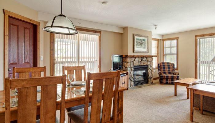 Spacious, bright living and dining area - 2 Bedroom Condo | Upper Village Condos, Panorama - Panorama - rentals