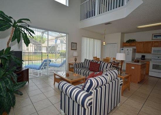 6 Bedroom Pool Home With Spa in Golf Community. 3106SKC - Image 1 - Orlando - rentals