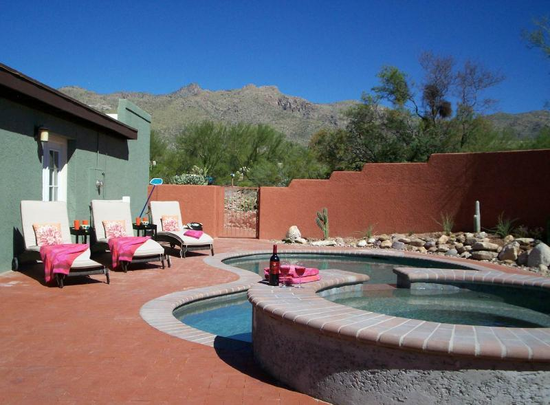 Pool and spa enclosed within walls; mountain views. - Desert Sun Sport for the Enthusiast! - Tucson - rentals