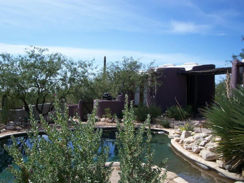 Exterior view of Casita and Pool. - Guest House at Desert Moon Retreat - Tucson - rentals