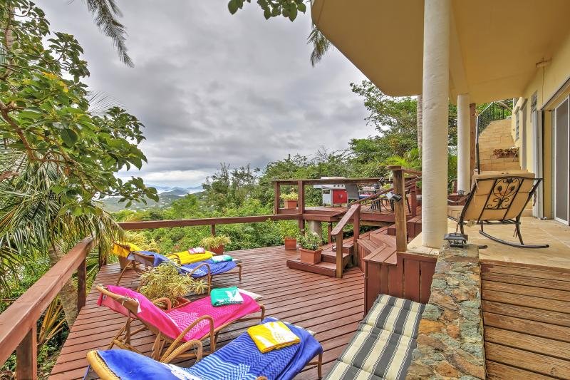 'Villa Van Dyke' Breathtaking 2BR St. Thomas House w/Wifi, Private Sun Deck & Panoramic Ocean Views - Ideal Location! Minutes from World-Class Beaches! Non-Smoking Property - Image 1 - West End - rentals