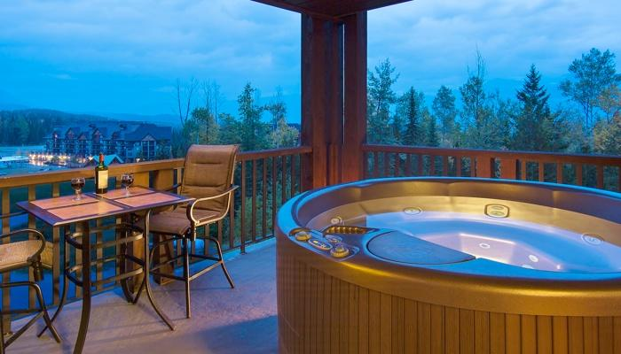Soak your tired skiing or biking legs in your private hot tub.  - Kicking Horse Palliser Lodge 2 Bedroom Condo with Private Hot Tub - Golden - rentals