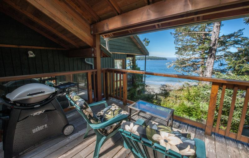 Private Ocean-view Deck, Lounge Chairs and BBQ - Beachfront - Tonquin Point Studio - Tofino - rentals