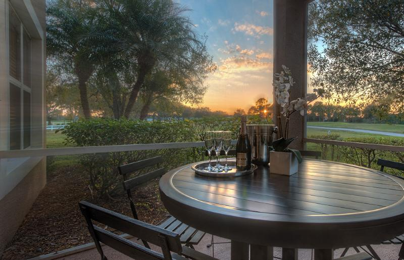 Patio 1 overlooking Golf Course - 7 Room PGA Village Golf Resort Villa - Port Saint Lucie - rentals