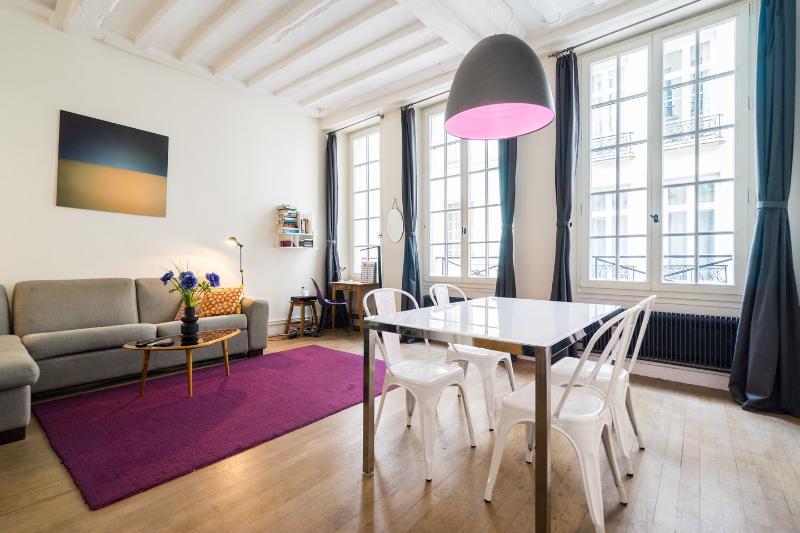 Living Room - Beautiful apartment -Ile Saint Louis-A/C-Free wifi - Paris - rentals