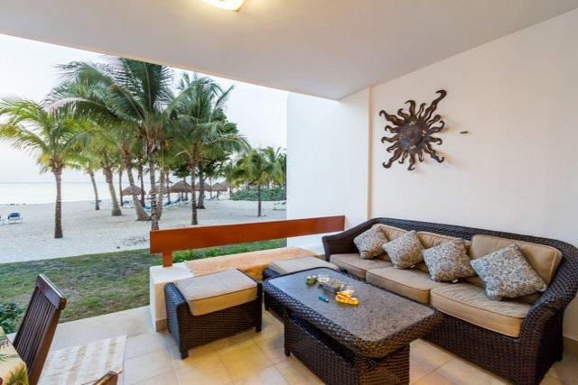 Casa Colorado (5130) - Step off the Terrace and Right onto the Sand - Image 1 - Cozumel - rentals