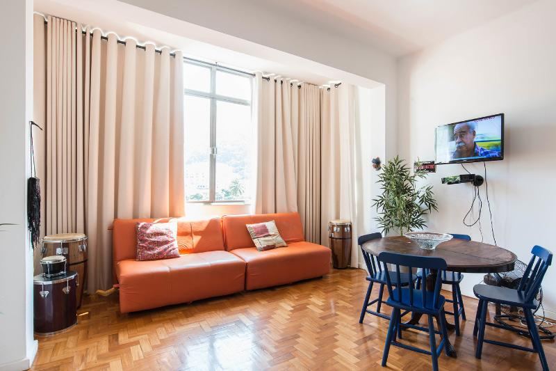 Living Room - Spacious apartment (airco) - with great views - Rio de Janeiro - rentals