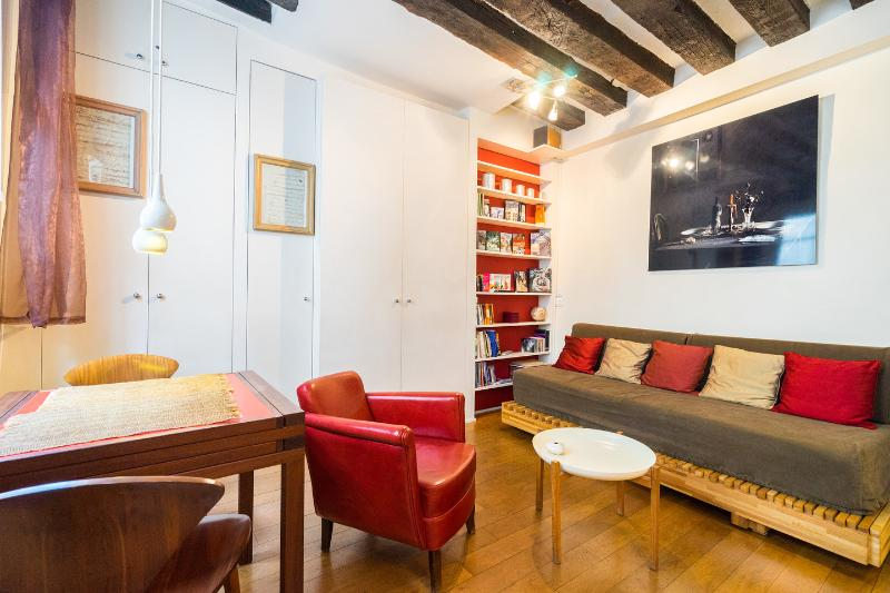 Living Room - Charming studio in central Paris - Paris - rentals
