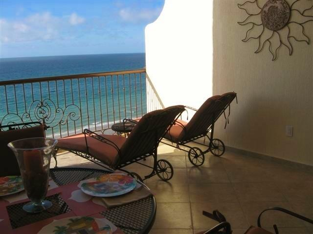 Enjoy a nap on these comfortable chaise lounges while viewing the Sea of Cortez - Sonoran Sky OCEANFRONT 1 Bdrm Condo w many EXTRAS! - Puerto Penasco - rentals
