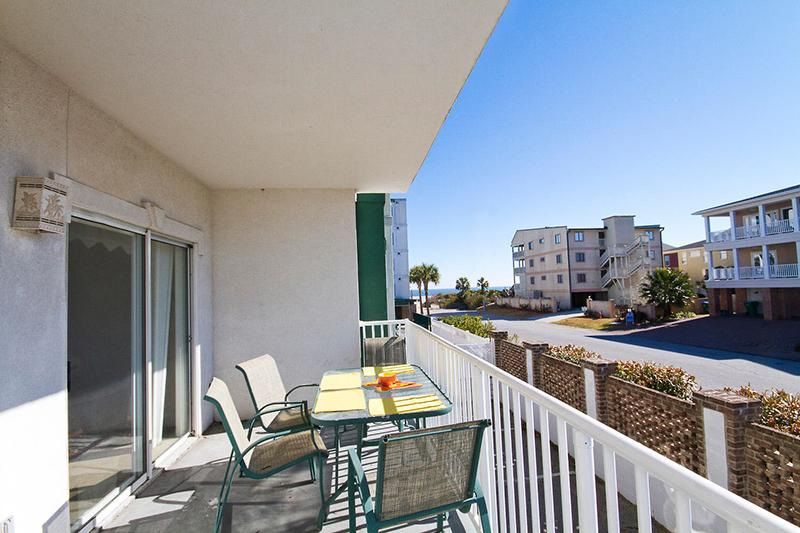 Enjoy the Ocean Breezes, Sounds of the Surf and Side View of the Atlantic from your Private Balcony - 612 Gull Reef -Beachside Colony Resort 3 BR/2 BA - Tybee Island - rentals