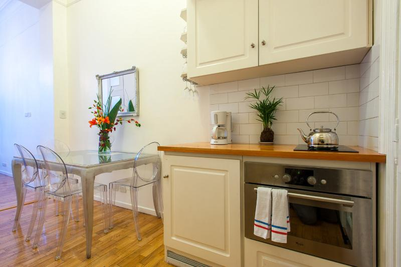 Half of the kitchen  - Perfect French style Recoleta studio: balcony/WiFi - Buenos Aires - rentals